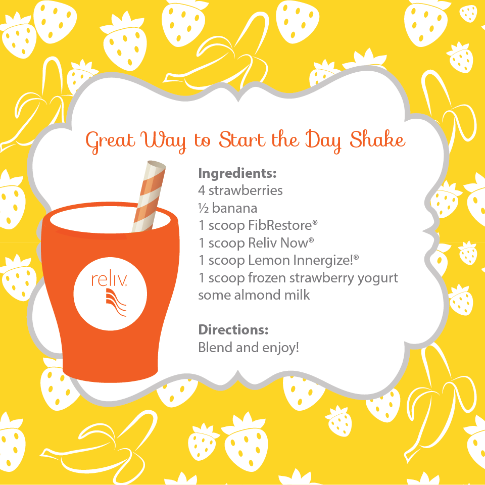 Get your day going the healthy way with this shake recipe
