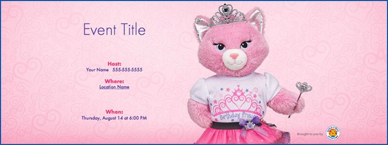 Party Invitations By Evite Build A Bear Workshop Us Build A