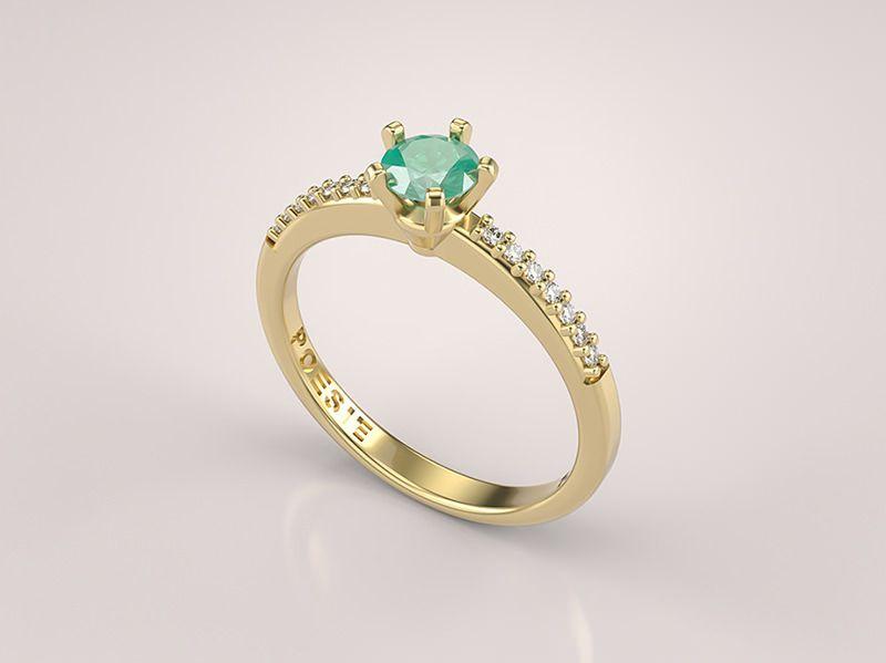 18 alianças de noivado com esmeraldas para você se inspirar   Bodas ... 0cbe137826
