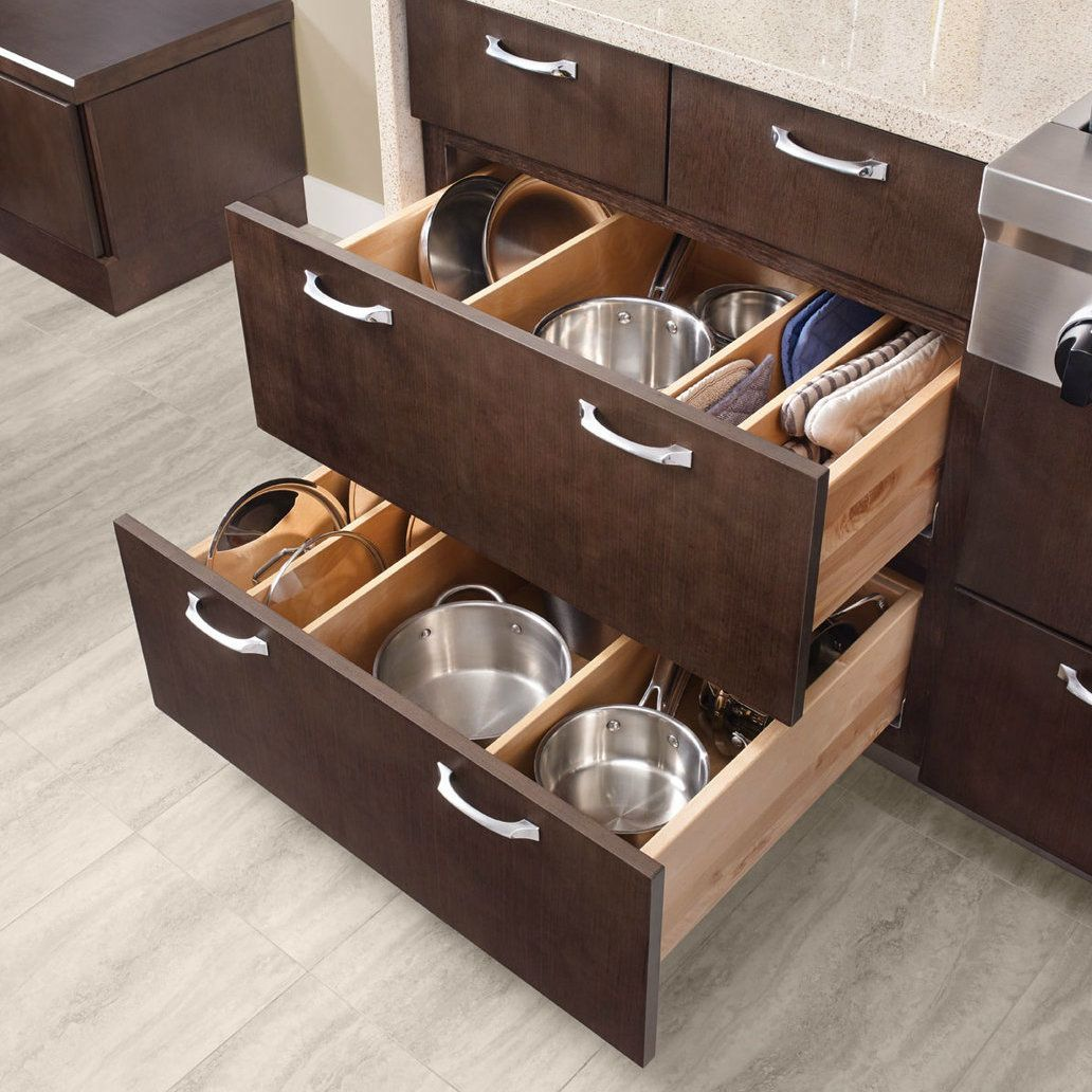 Adjustable drawer dividers in
