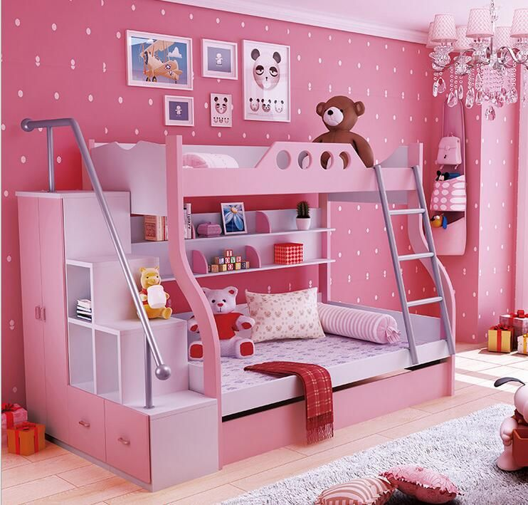Cheap Children Bed Buy Quality Beds Bunk Directly From China Bunk Bed Suppliers Color Pink Blue Material Plat Girls Bunk Beds Kid Beds Girl Bedroom Decor