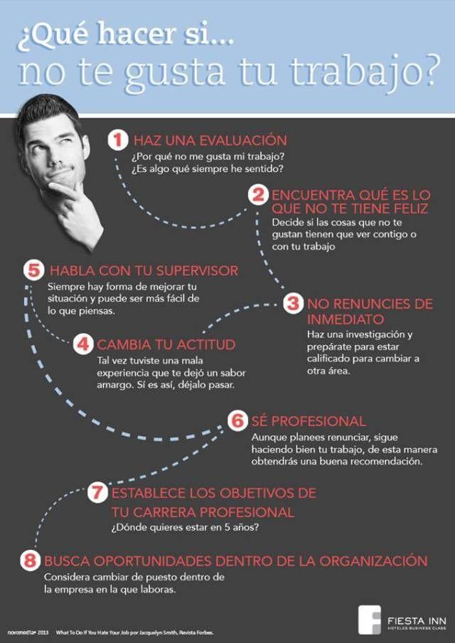 No Te Gusta Tu Trabajo Hablar Español Infografia Busqueda De Empleo