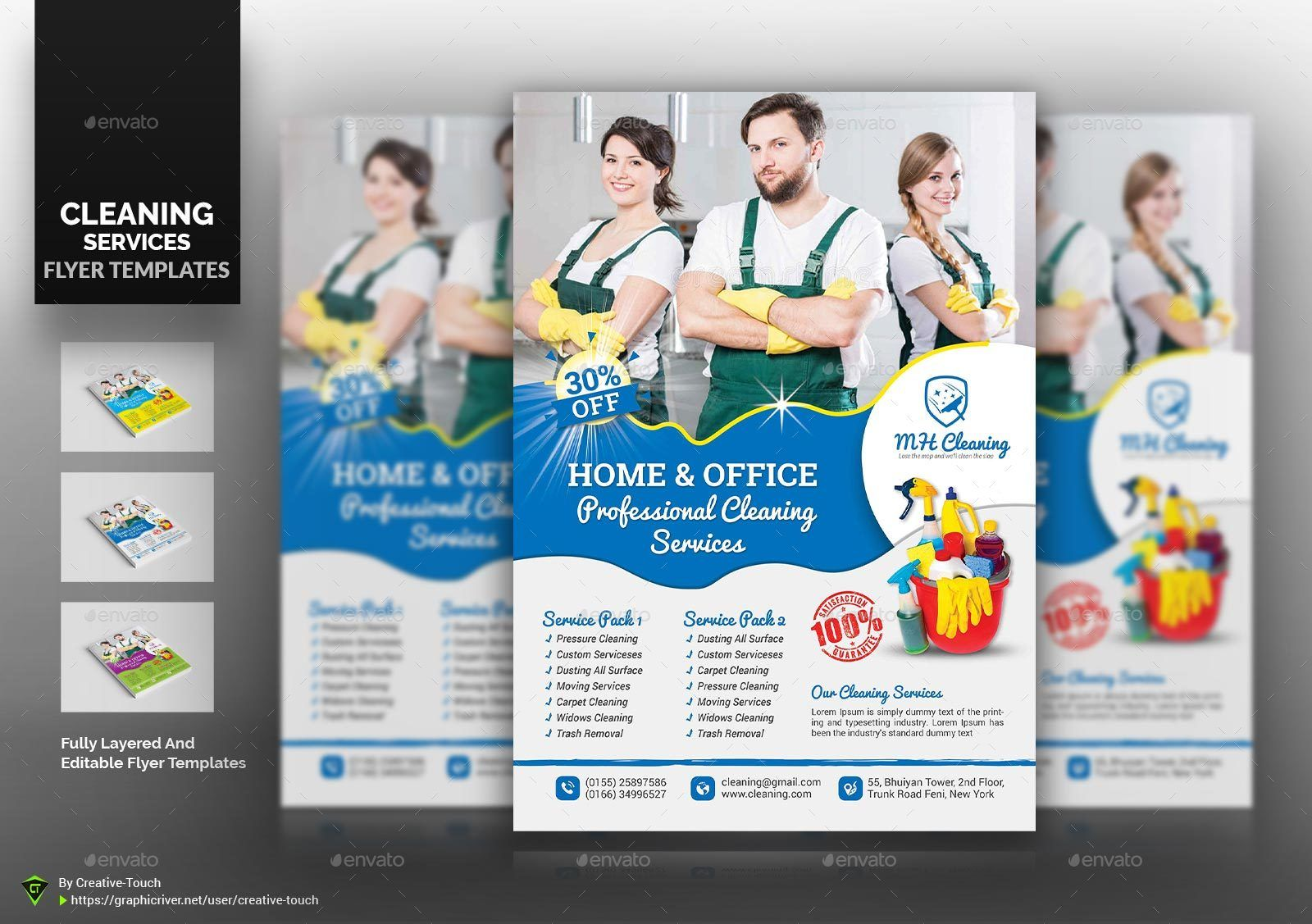 Cleaning Services Flyer Templates Ad Advertisement Flyer Carpet