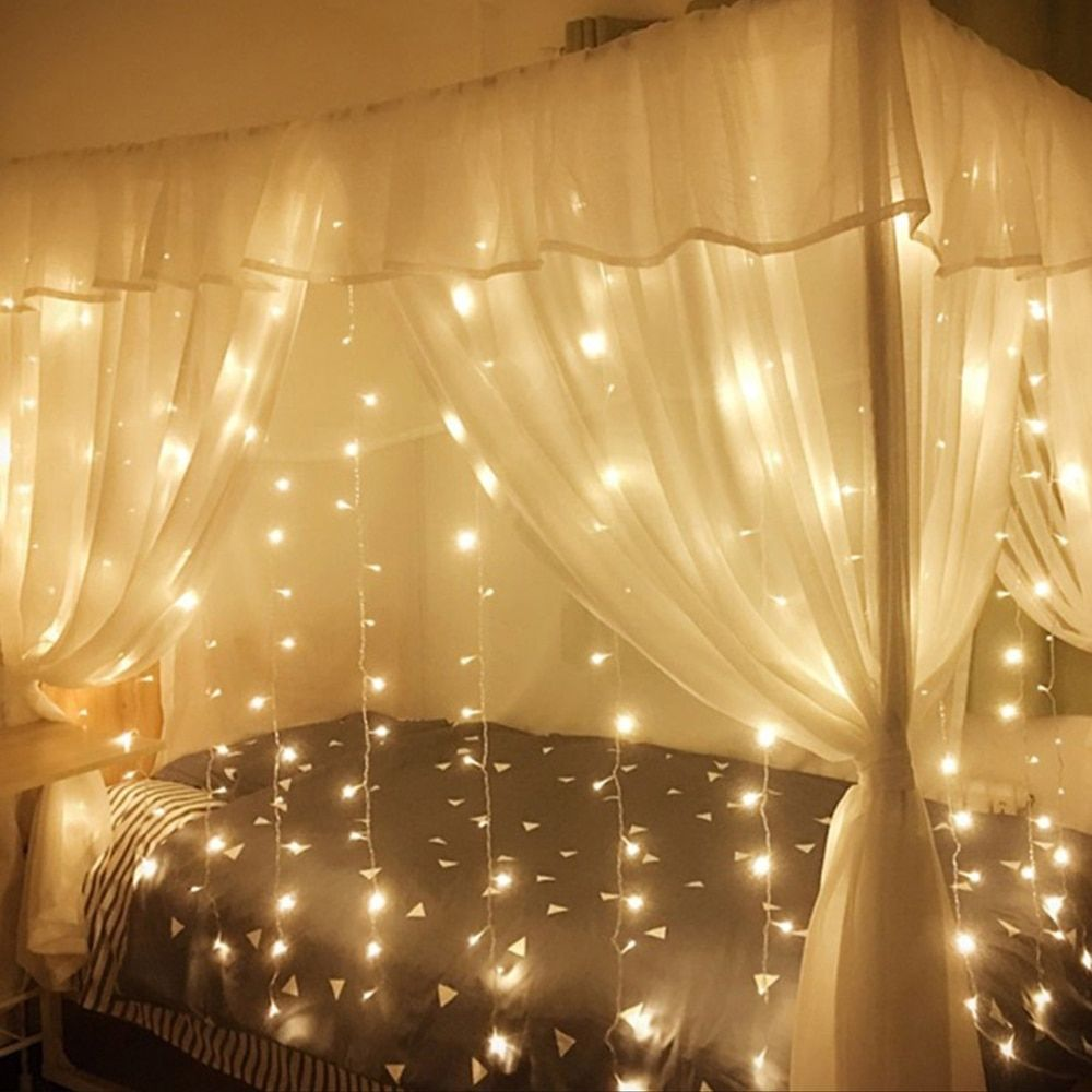 2x2/3x3/6x3 LED Icicle String Lights Christmas Fairy Lights garland Outdoor Home For Wedding/Party/Curtain/Garden Decoration I www.hotdealsgalore.com #fairylights
