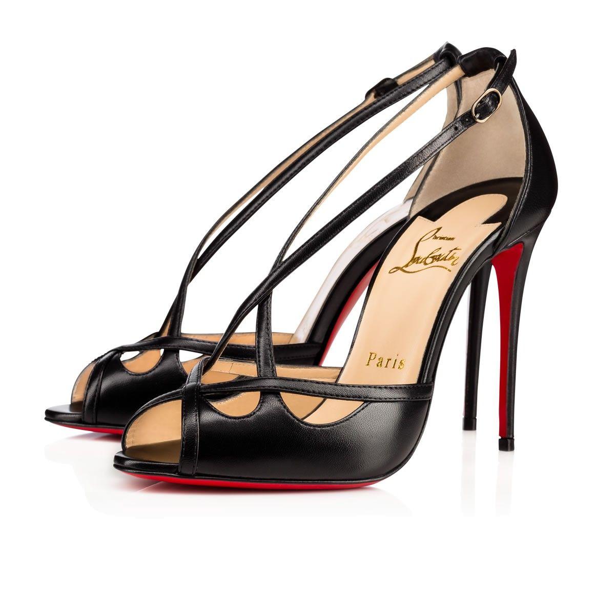 CHRISTIAN LOUBOUTIN Madalena Nappa Laminata 100 Black Lambskin - Women Shoes  - Christian Louboutin.  christianlouboutin  shoes   111aefc0b5