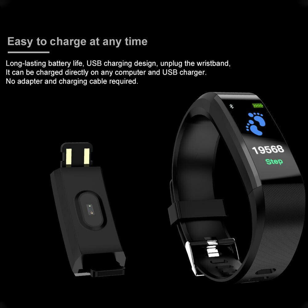 Smart Band Watch Bracelet Wristband Fitness Tracker Blood Pressure Heart Rate - Fitness Watch - Idea...