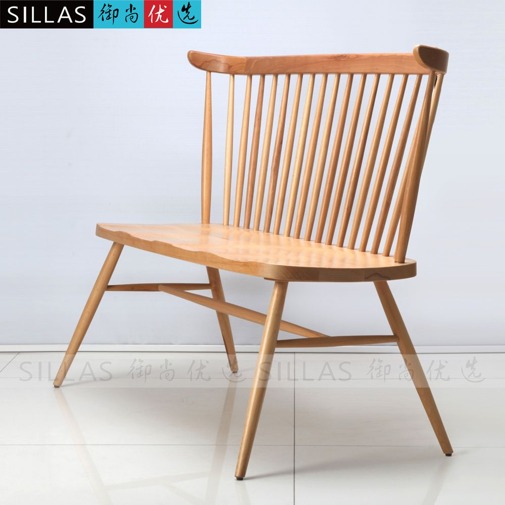 Double Windsor Chair Wood Chair Scandinavian Designer Furniture, Wooden  Dining Chairs American Restaurant Cafe