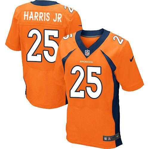 nike elite chris harris jr orange mens jersey denver broncos 25 nfl home