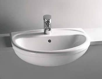 Vitra   S20 45cm Short Projection Semi Recessed Basin   1 Tap Hole |  Bathroom | Pinterest | Semi Recessed Basin, Victorian And Sinks