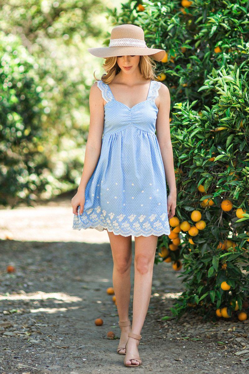 Marissa Bright Blue Printed Sundress Sundress Summer Dress Outfits Summer Outfits Women Over 40 [ 1200 x 800 Pixel ]