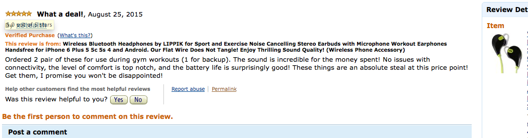 Fantastic review of our customer.