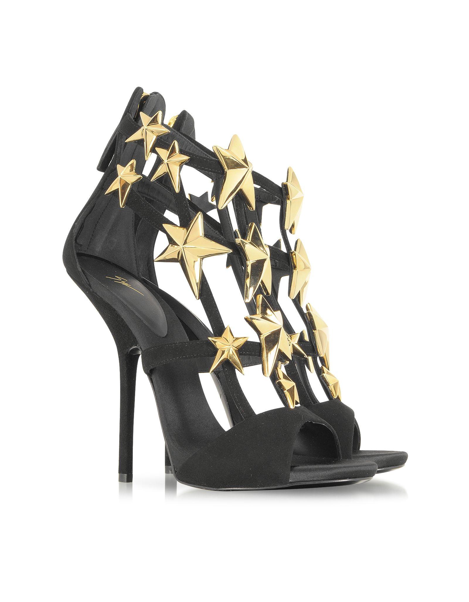 70a230d83 Giuseppe Zanotti Star Studded Black Suede Sandal