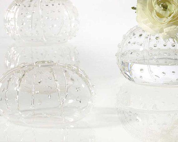 Sea Urchin Vase Small Bud Vase Fs31471 Flower Vase Clear Glass