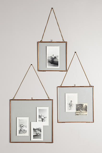 Make It: DIY Knock-Off Anthropologie Hanging Frame | Pinterest ...