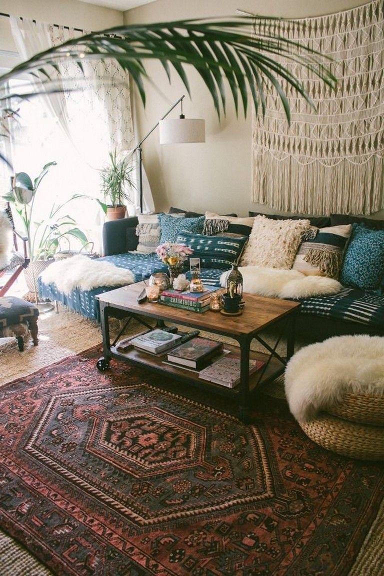 36+ Smart Bohemian Farmhouse Decorating Ideas Living Room images