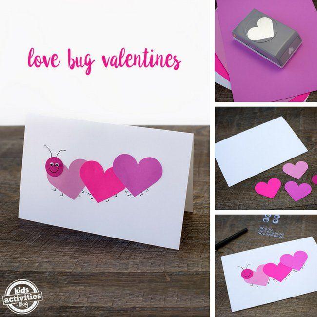 Easy Love Bug Valentines Kidsactivities Com Diy Valentines Cards