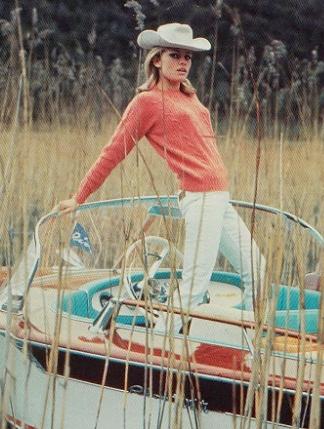 Brigitte Bardot in her Riva Junior