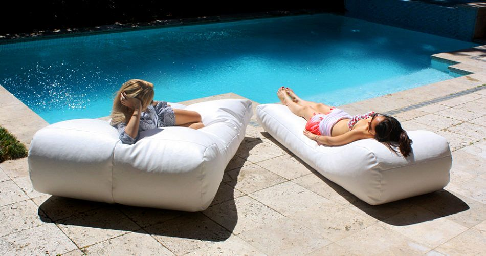 Awe Inspiring Pool Bean Bags As Deck Chairs Outdoors In 2019 Outdoor Gmtry Best Dining Table And Chair Ideas Images Gmtryco