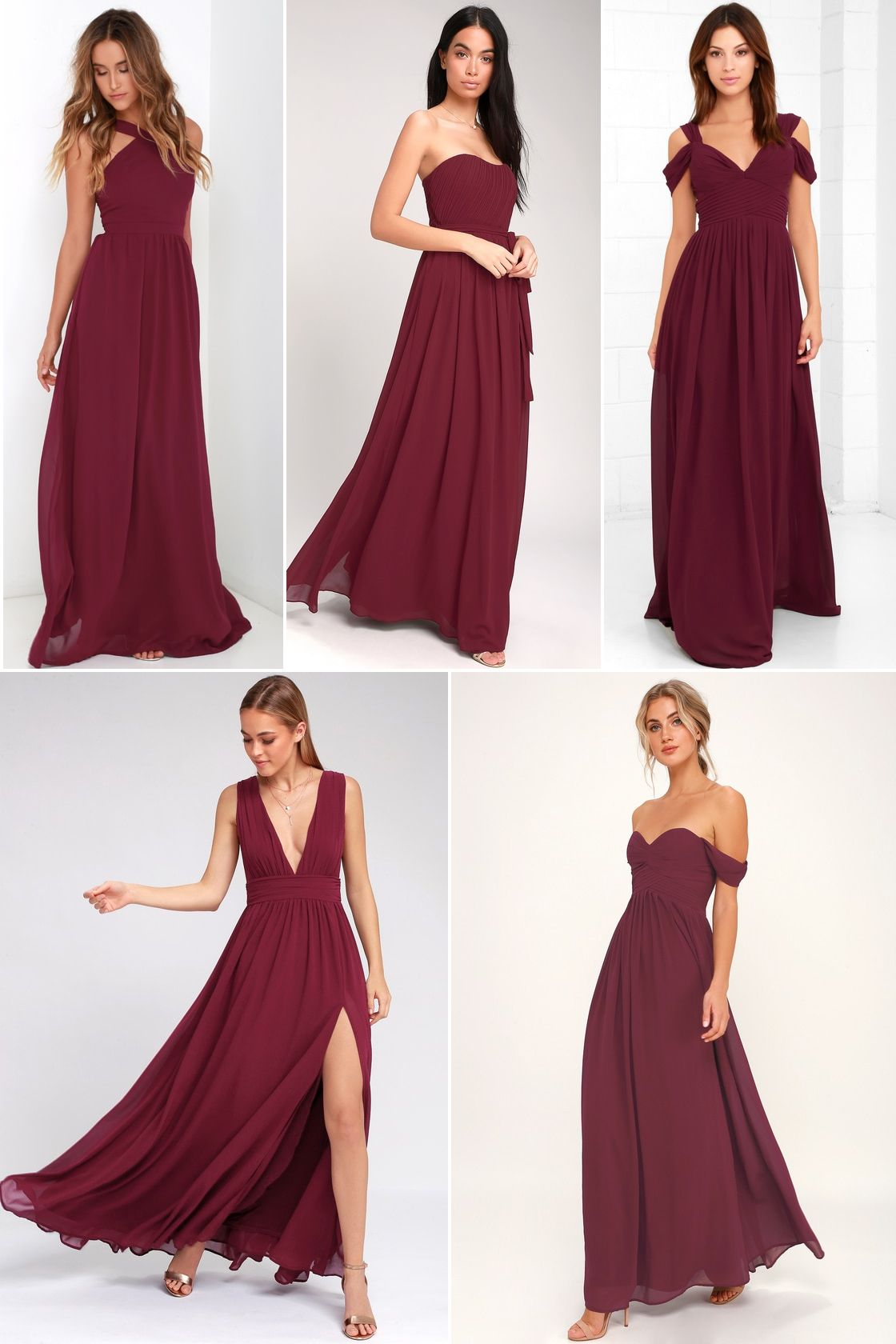 0707479fd1c Lulus burgundy bridesmaid dresses - affordable pretty dresses - Air of  Romance