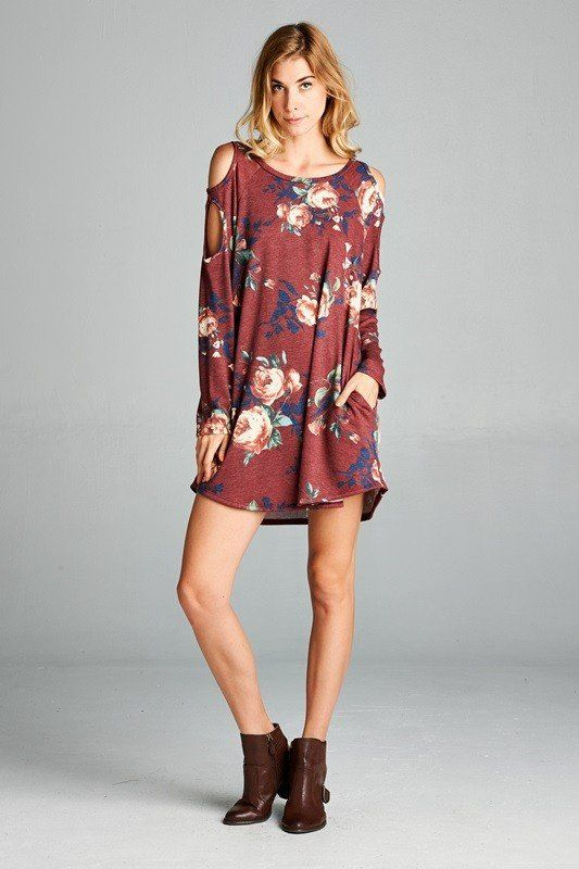 Flair for Floral Tunic Dress