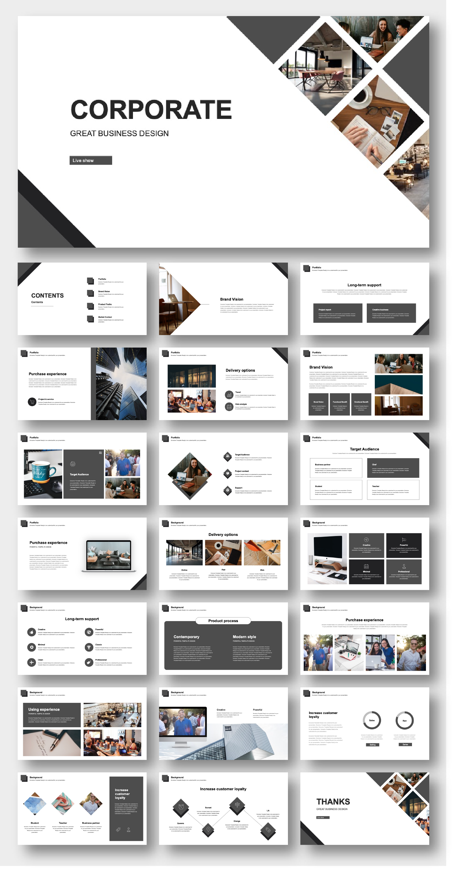 Creative Corporate Annual Project Report Template – Original and High Quality PowerPoint Templates