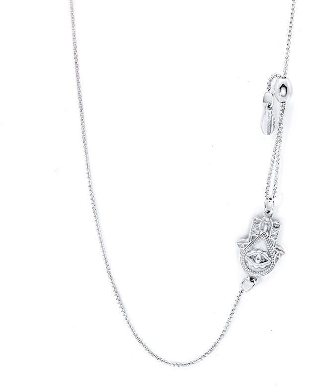 Zales Ladies 0.8mm Cable Chain Necklace in 14K White Gold - 16 UYzdnCBqD