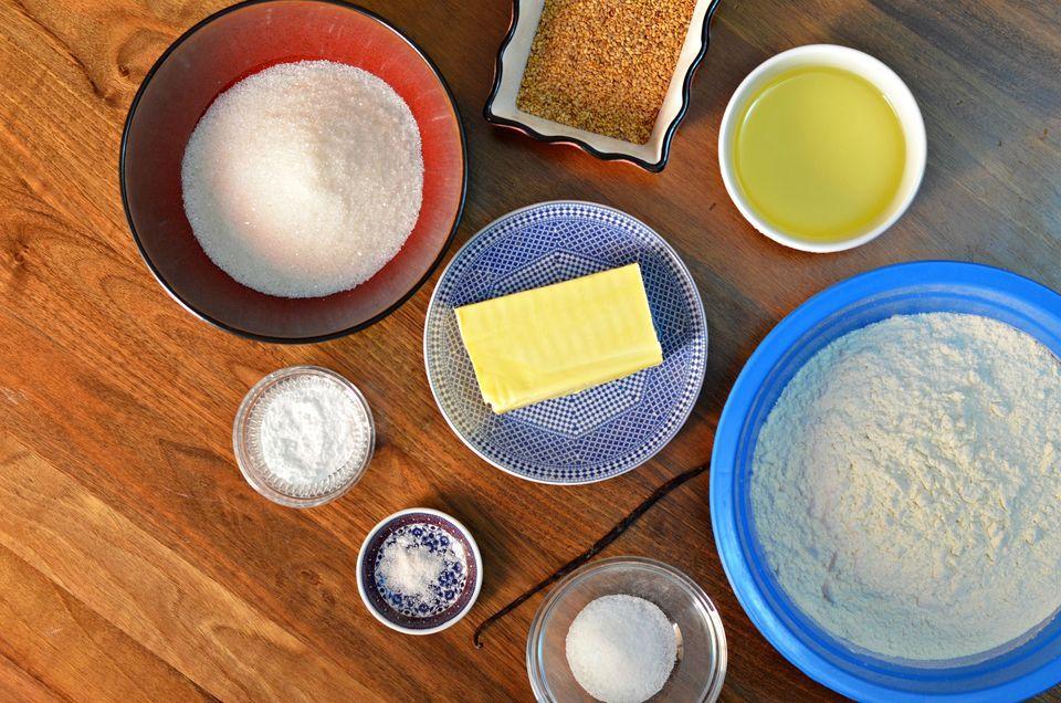 ingredients for Moroccan shortbread