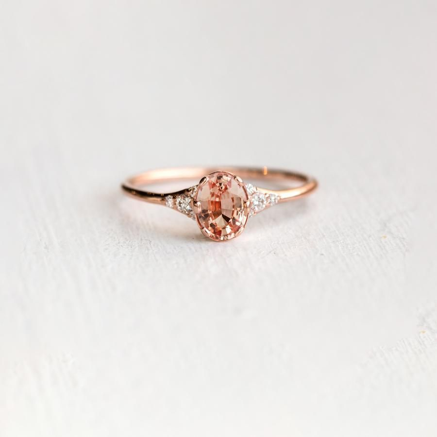 Padparadscha sapphire ladyus slipper ring everything on this site