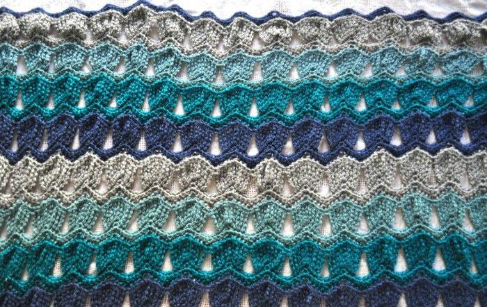 vintage fan ripple afghan | Crochet | Pinterest | Colchas, Puntadas ...