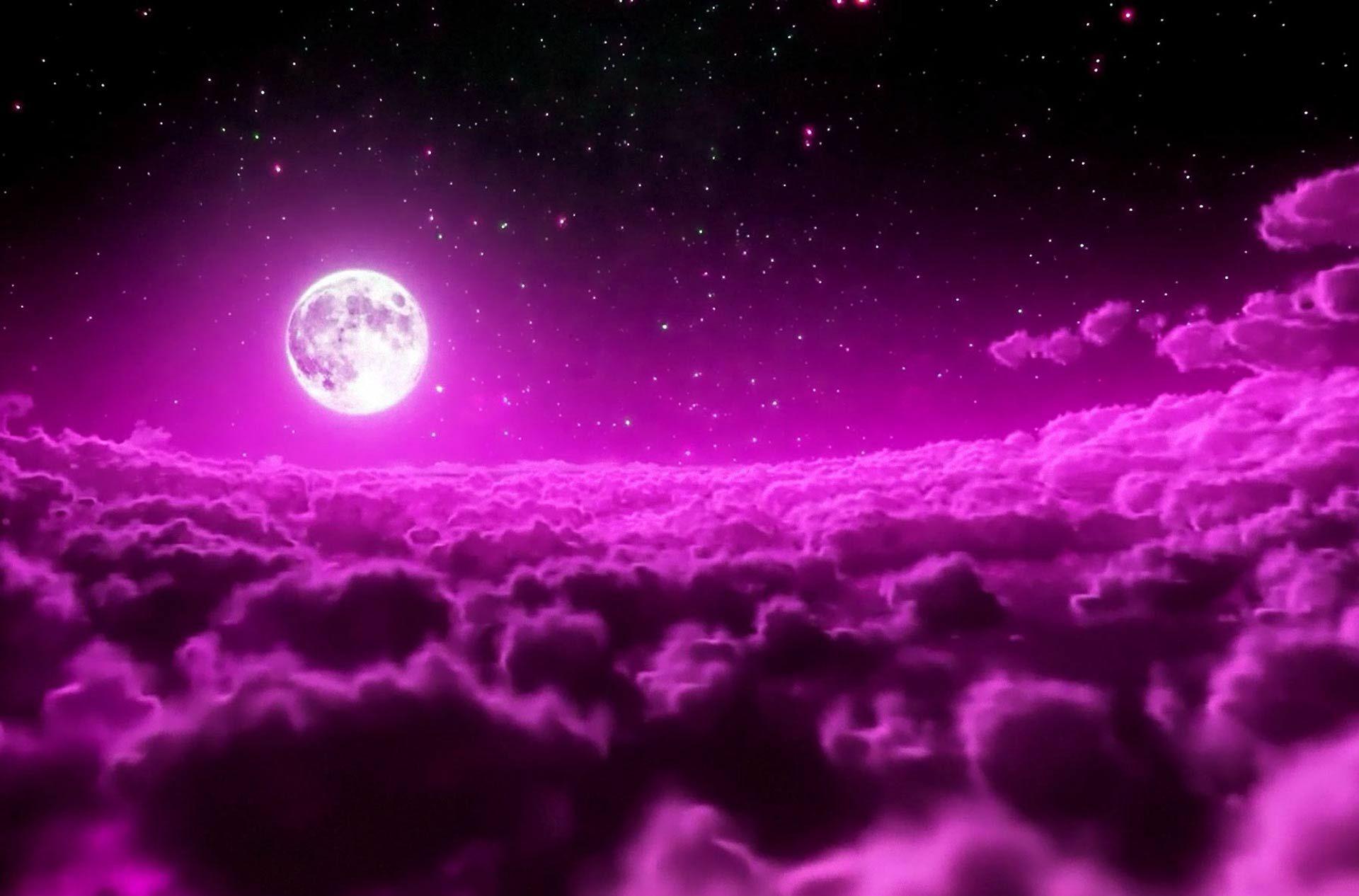 Fondo Pantalla Luna Y Nubes