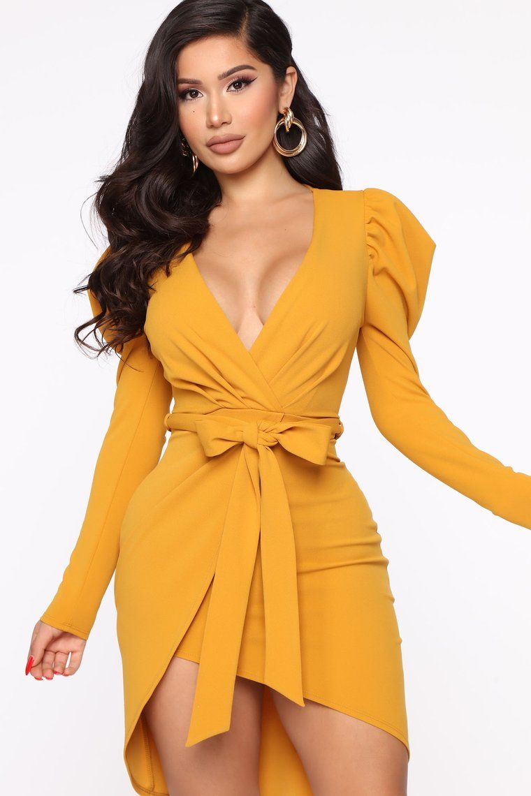 Owning This Moment Mini Dress Mustard Fashion Nova Dress Mini Dress Fashion