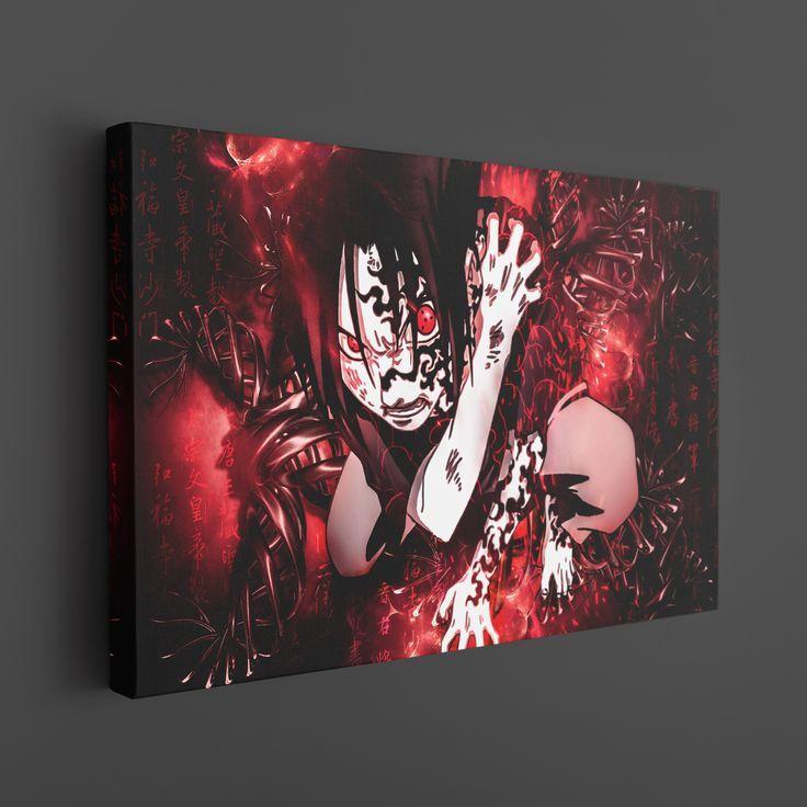 Sasuke cursed mark sharingan canvas art thumbnail