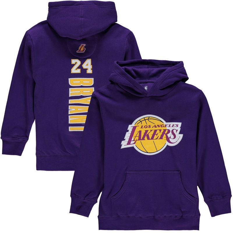 Purple Los Angeles Kobe Logo Hooded Sweatshirt
