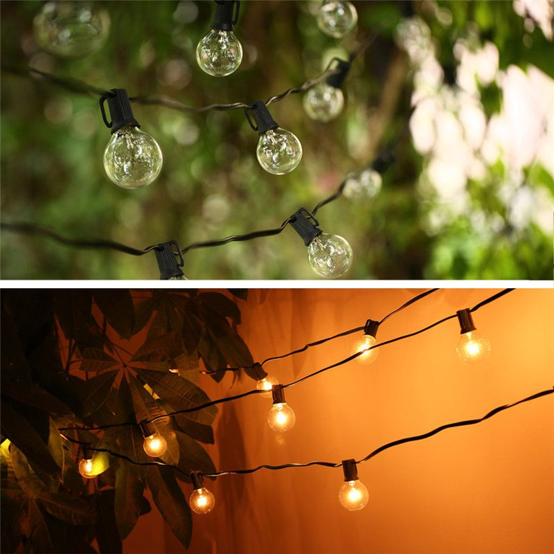 Garden String Lights Prepossessing String Lights With 25 G40 Globe Bulbs Ul Listed For Indooroutdoor