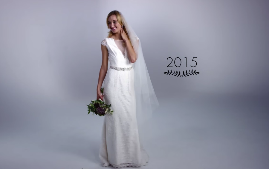evolución de los vestidos de novia, ¡100 años en 3 minutos