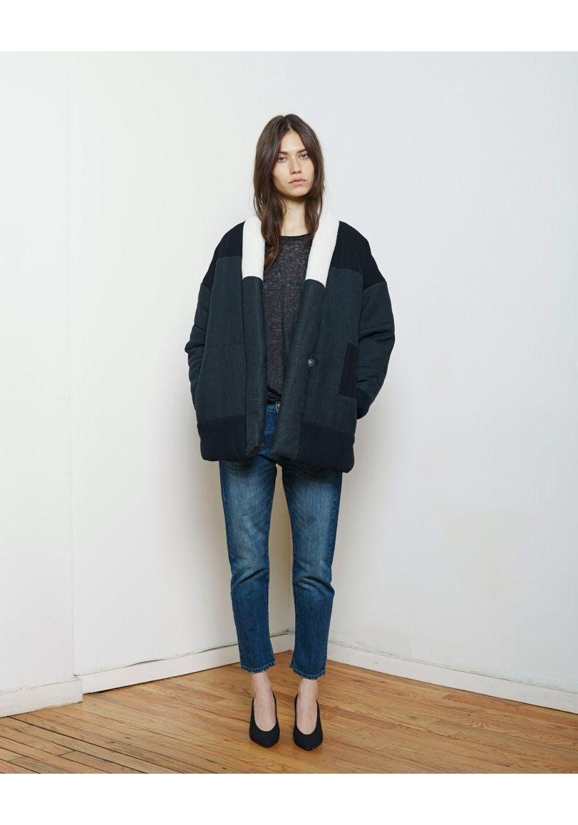 Super günstig Heiß-Verkauf am neuesten klassische Passform Isabel Marant Étoile / Dempster Patchwork Quilted Jacket Isabel ...