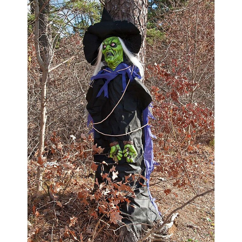 Tree Hugger Witch Halloween outdoor decorations, Scary