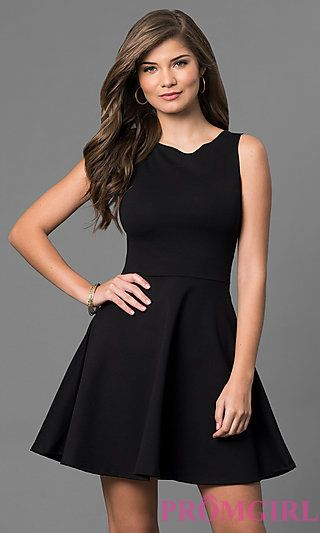 71bacfea8 Sleeveless Short Black Dress with Cut Out Back in 2019   formals ...