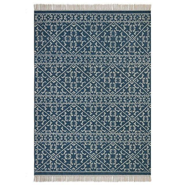 Inspire Des Kilims Traditionnels Tissage Main Un Superbe Motif Esprit Berbere Finition Frangee Nouee Isolant Thermique Et Phonique Nature Tapis Tisse Tapis Et Tapis Coton