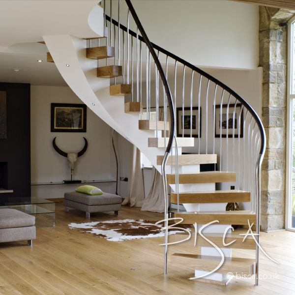 Best Bespoke Helical Stair West Yorkshire Staircase Design 400 x 300