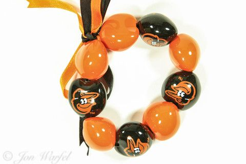 Check this out! Baltimore Orioles Go Nuts Kukui Nut Bracelet