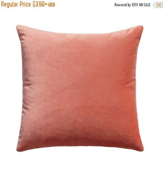 High End Designer Throw Pillows Part - 20: Peach Velvet STUFFED Throw Pillow, Both Sides Velvet , 16x16, 18x18, 20x20,