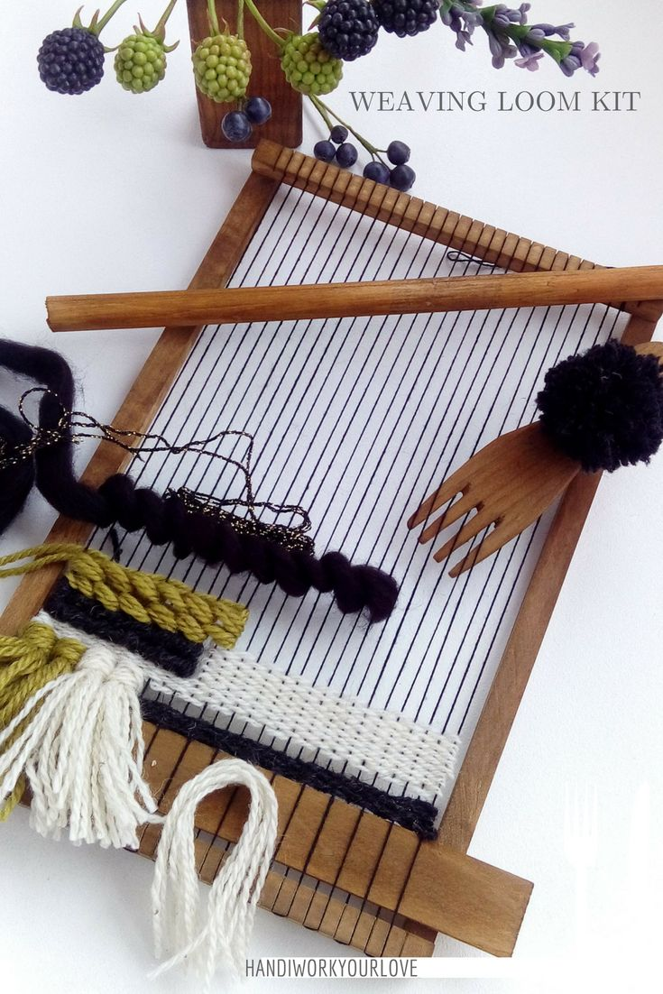 how to make a wooden weaving loom