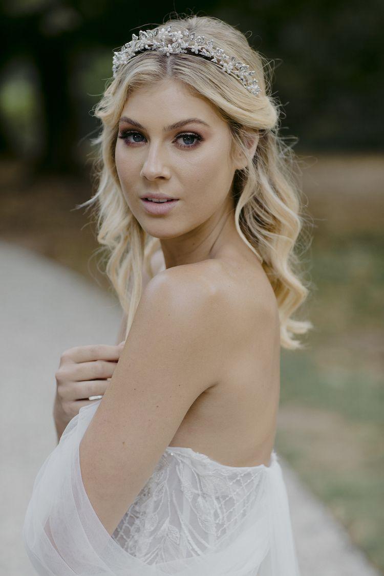 CRESCENT | crystal bridal crown - TANIA MARAS | bespoke wedding headpieces + wedding veils