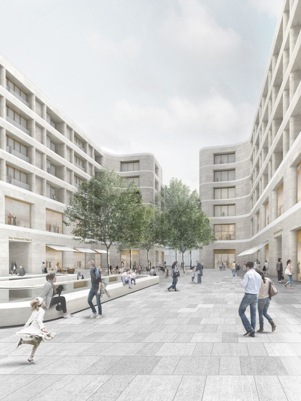 Wohnen statt b ros chipperfields neue pl ne f r das berliner kudamm karree renderings - Architekturvisualisierung berlin ...