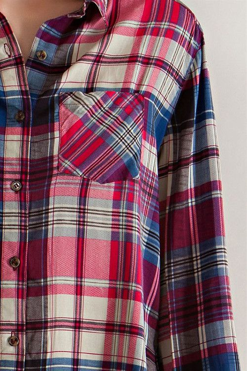 Blaire Plaid Tunic