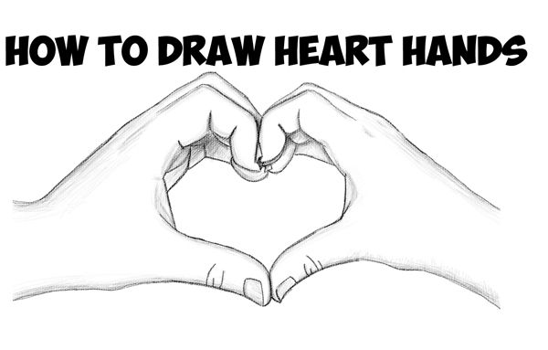 Today I Ll Show You How To Draw Make Heart Hands For Valentine S Day You Will Learn How To D Heart Drawing Drawing Tutorials For Beginners Heart Hands Drawing