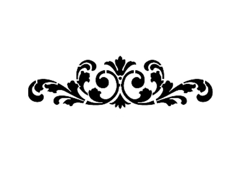 pin by madi lamela on stencils pinterest stenciling scale and rh pinterest com  black damask border clip art