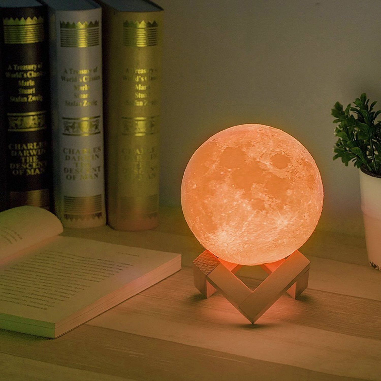 Doptika Moon Lamp 3d Printing Led Lunar Moon Night Lighting With Usb Charging Touch Control Brightness Two T Nursery Night Light Light Decorations Night Light