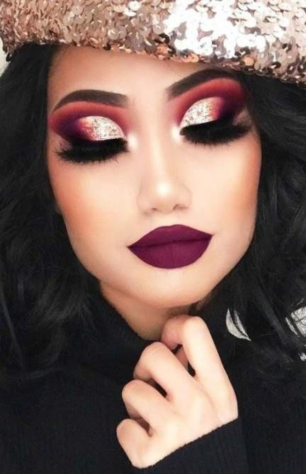 Trendy holiday makeup looks valentines day ideas